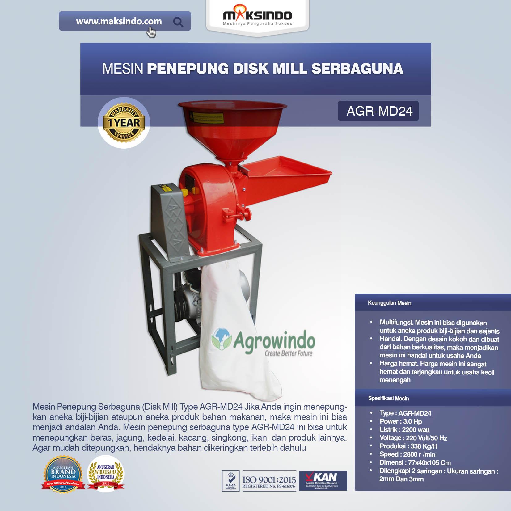 Jual Penepung Disk Mill Serbaguna (AGR-MD24) di Semarang