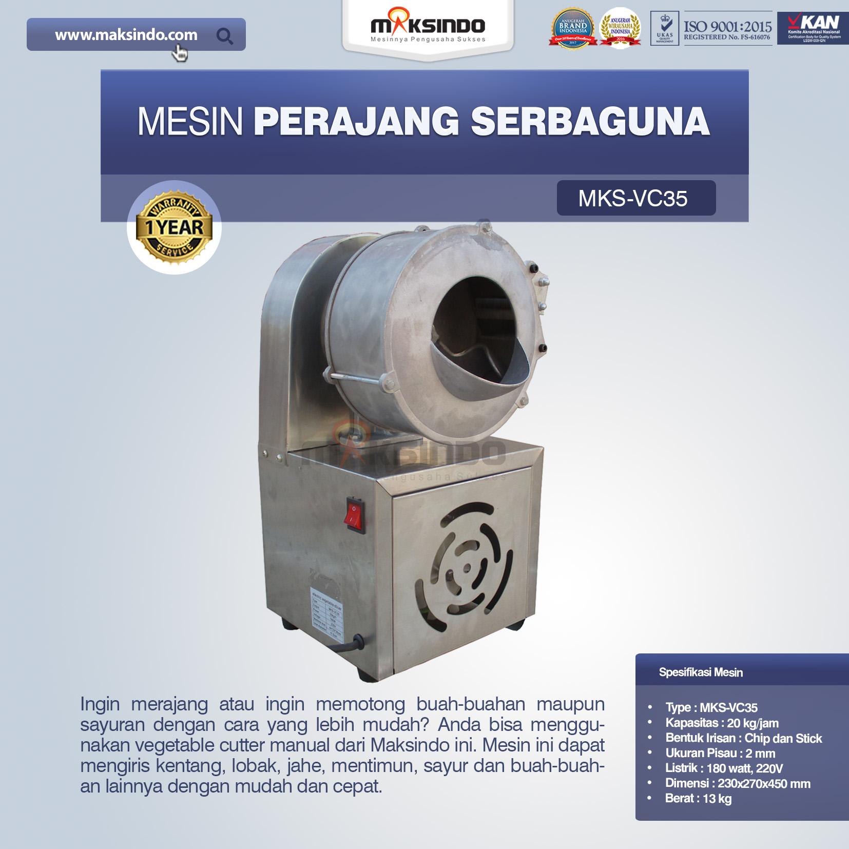 Jual Mesin Perajang Serbaguna MKS-VC35 di Semarang