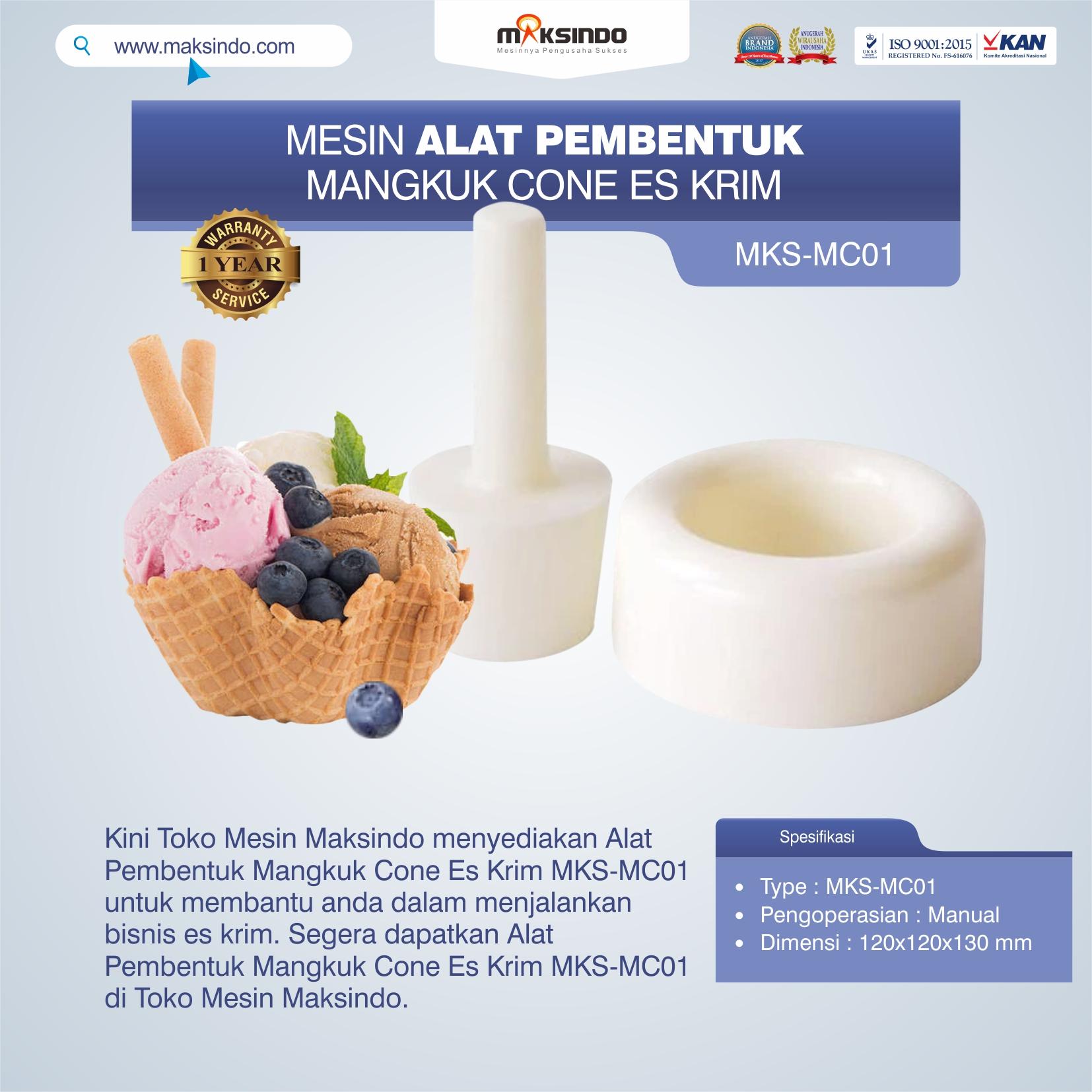 Jual Alat Pembentuk Mangkuk Cone Es Krim MKS-MC01 di Semarang