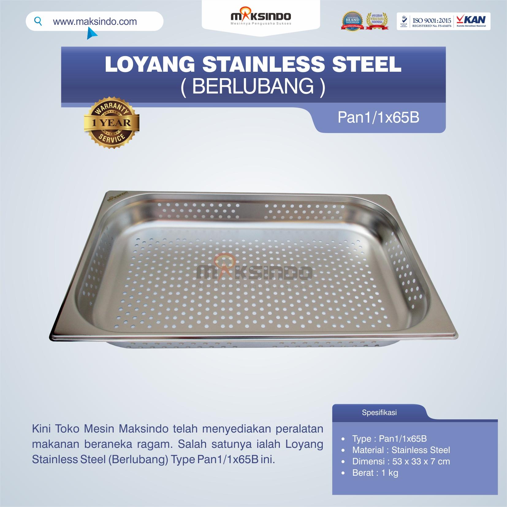 Jual Loyang Stainless Steel (Berlubang) Type Pan1/1x65B di Semarang
