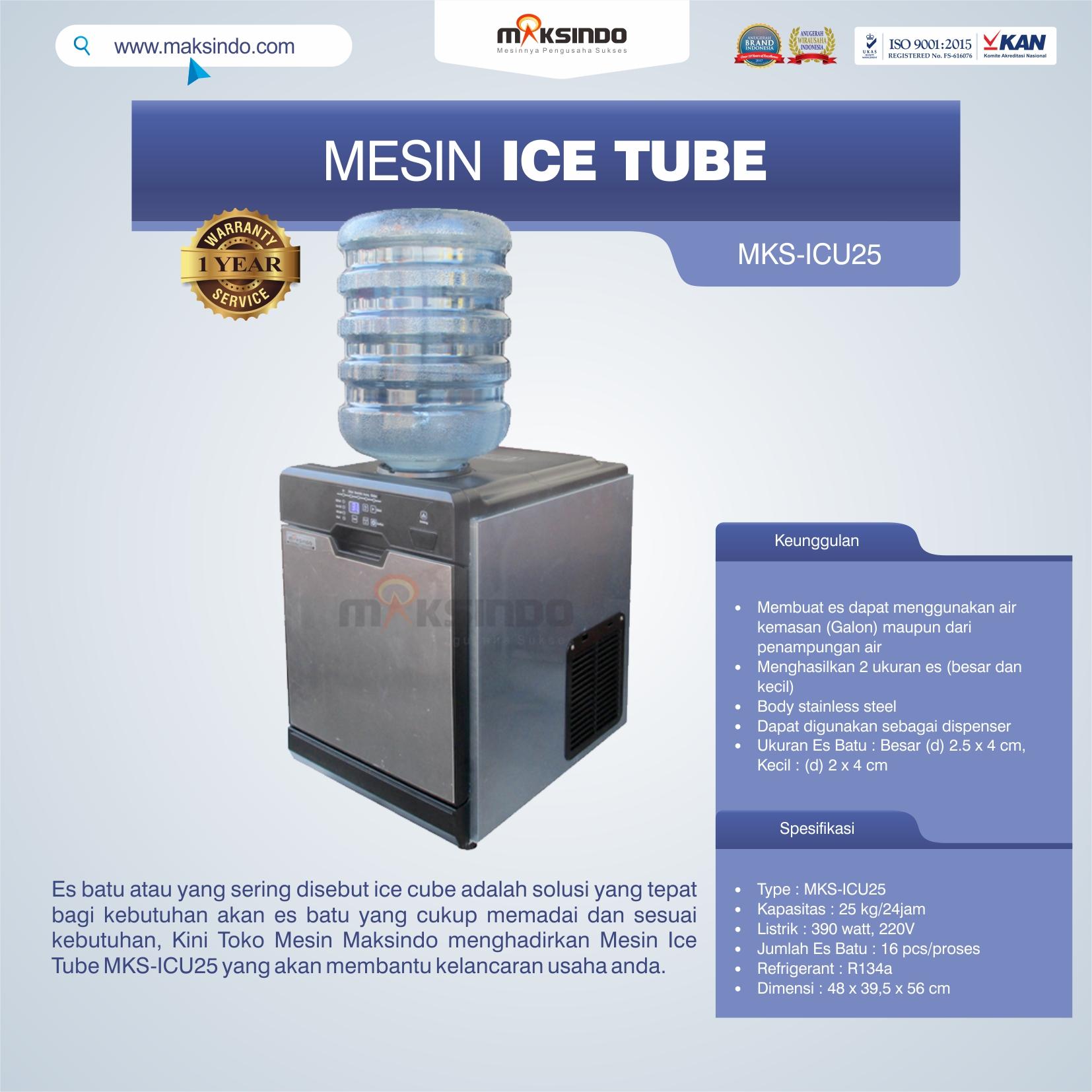 Jual Mesin Ice Tube MKS-ICU25 di Semarang