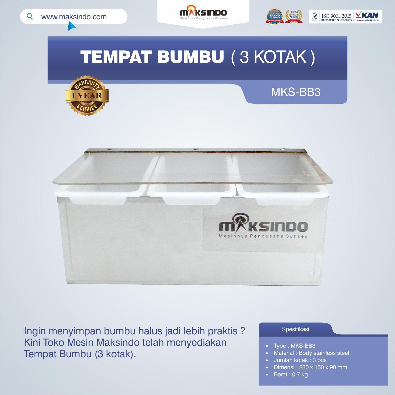 Jual Tempat Bumbu (3 kotak) di Semarang
