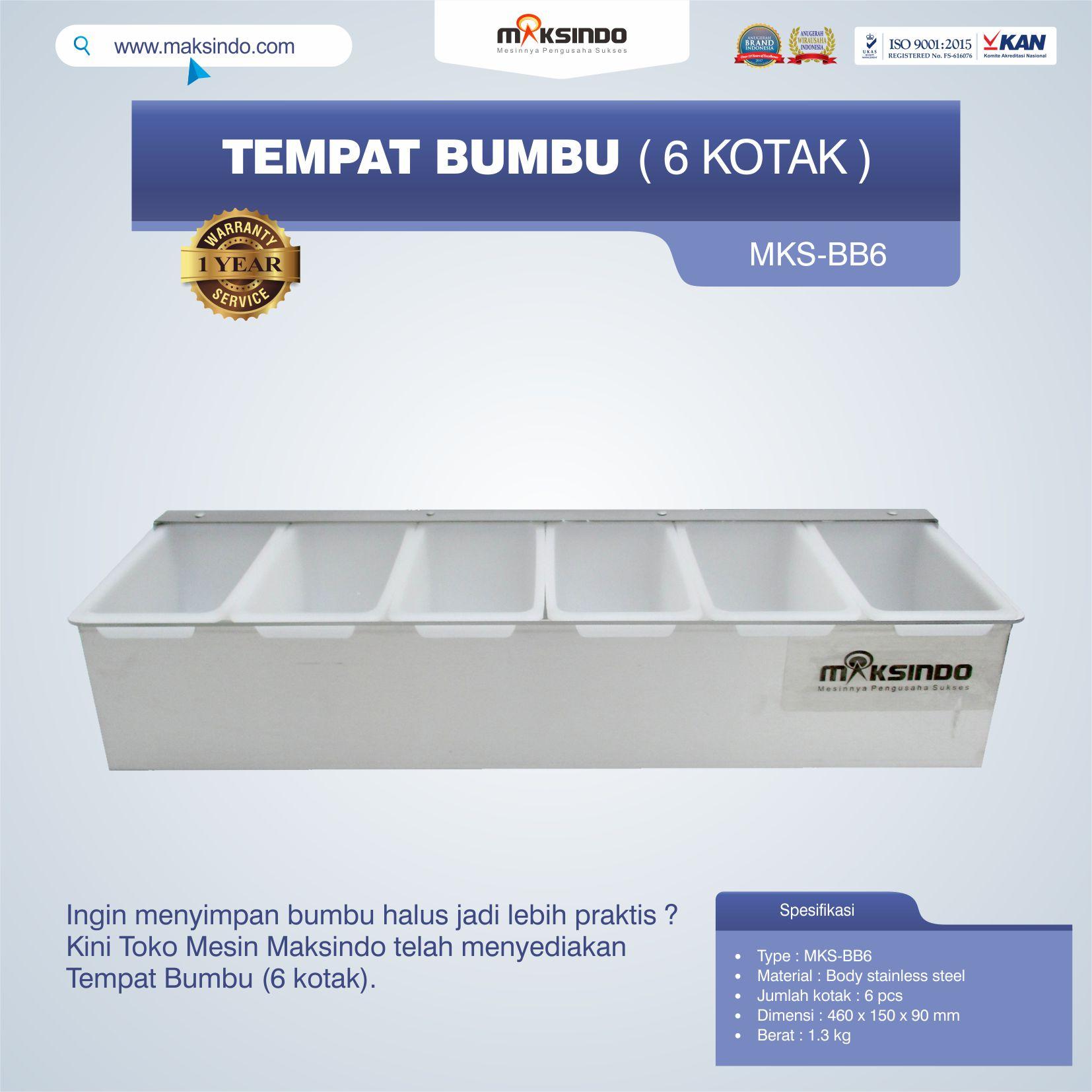Jual Tempat Bumbu (6 kotak) di Semarang