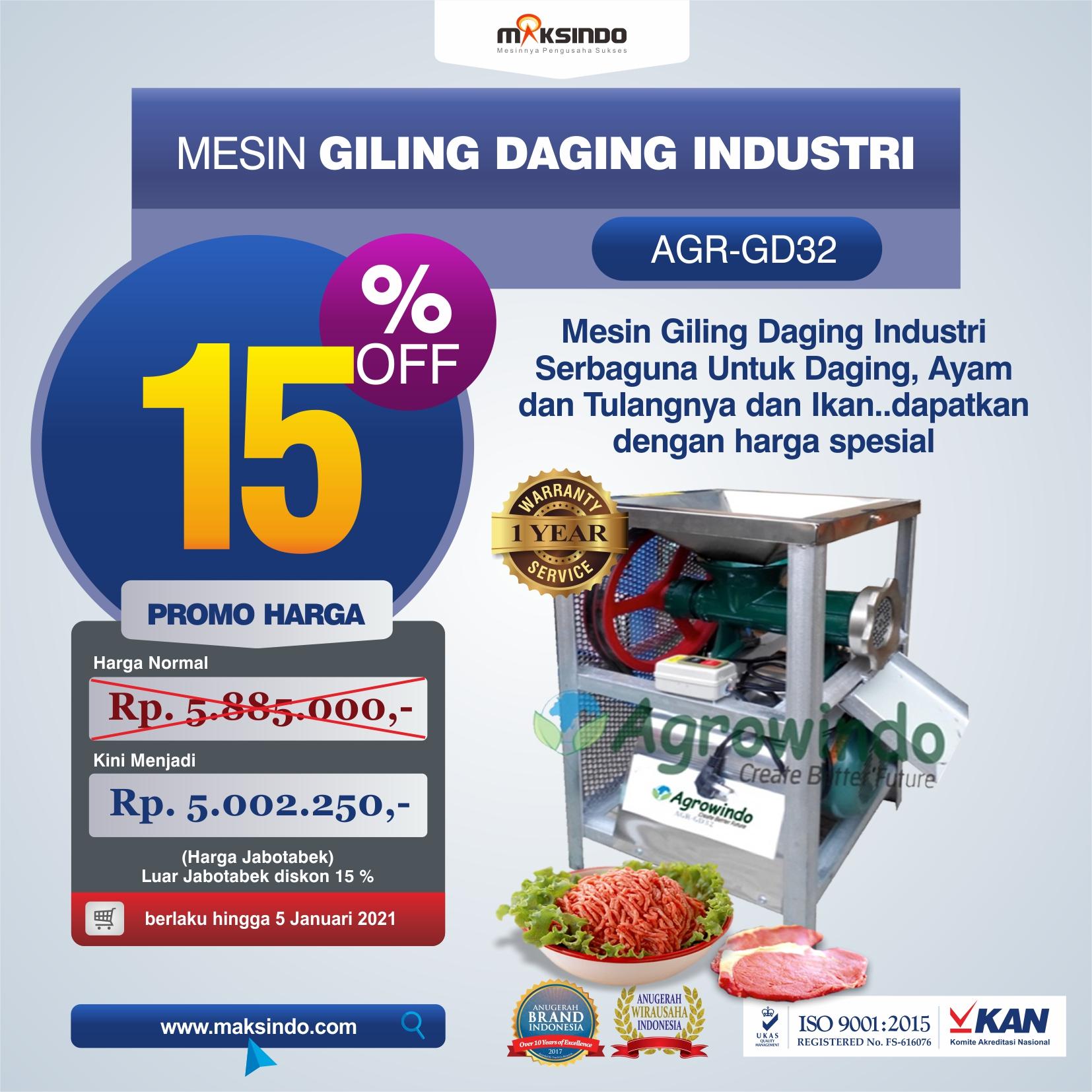 Jual Mesin Giling Daging Industri (AGR-GD32) di Semarang