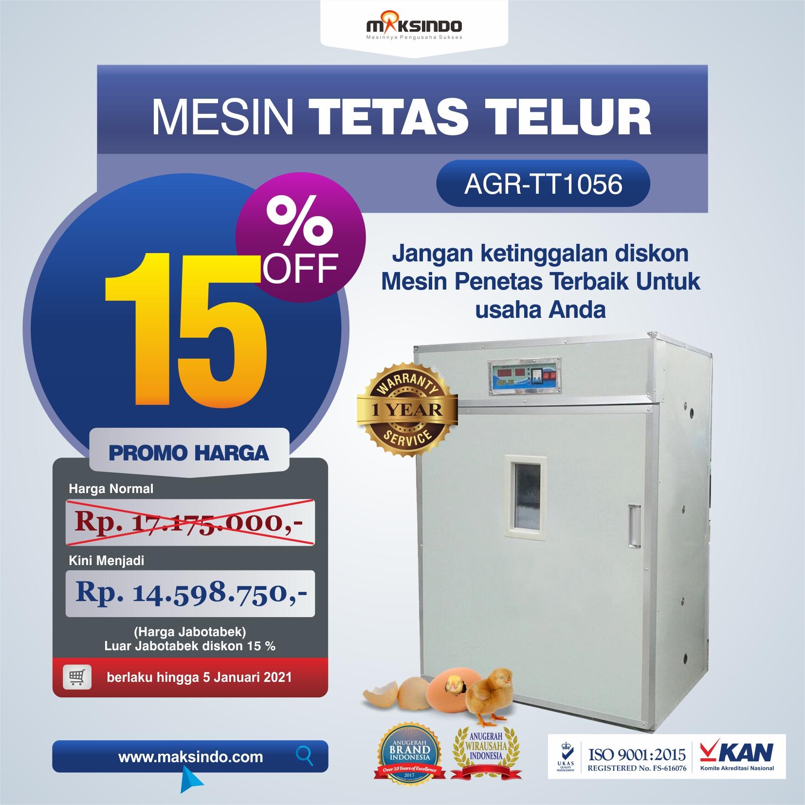 Jual Mesin Tetas Telur Industri 1056 Butir (Industrial Incubator) di Semarang