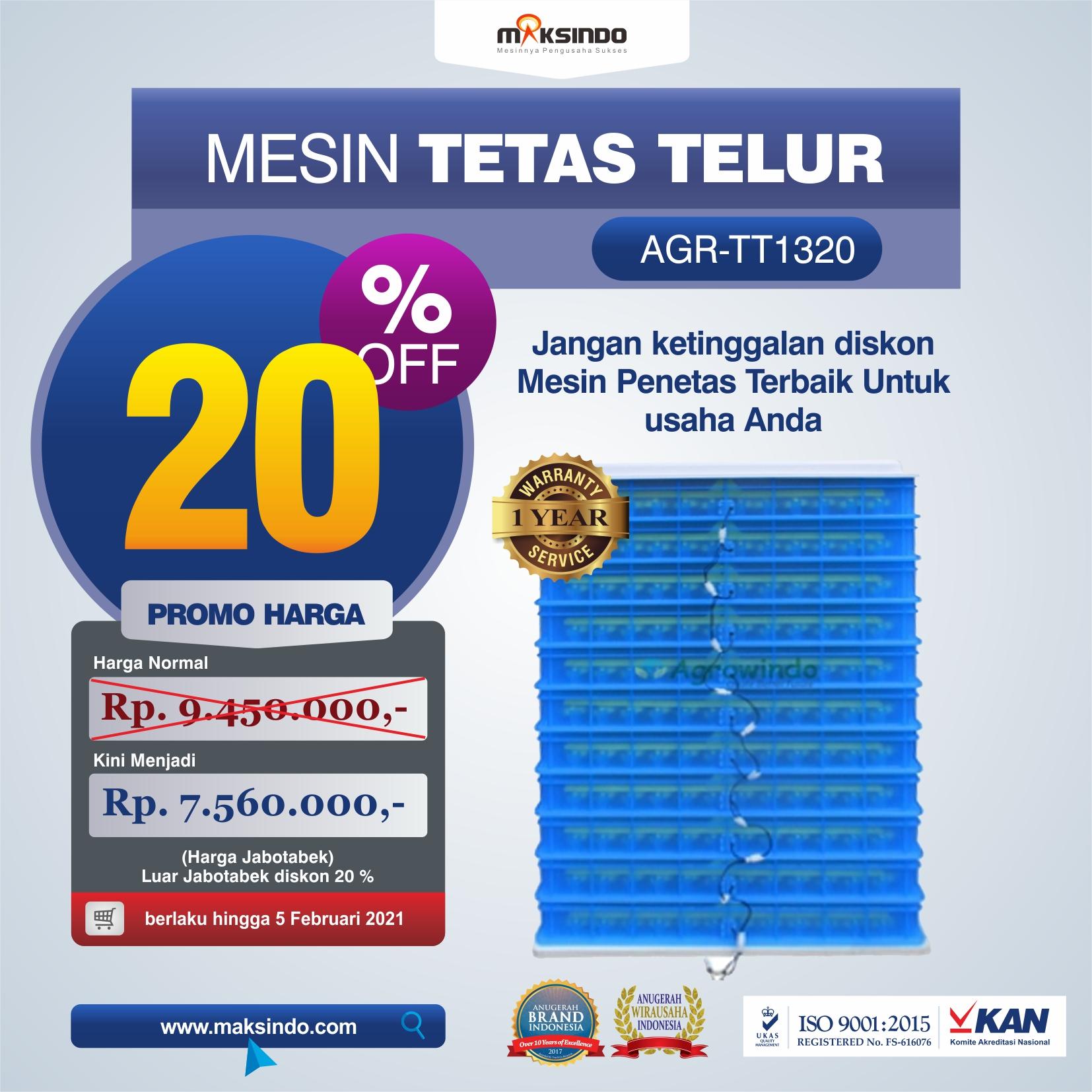 Jual Mesin Penetas Telur AGR-TT1320 di Semarang