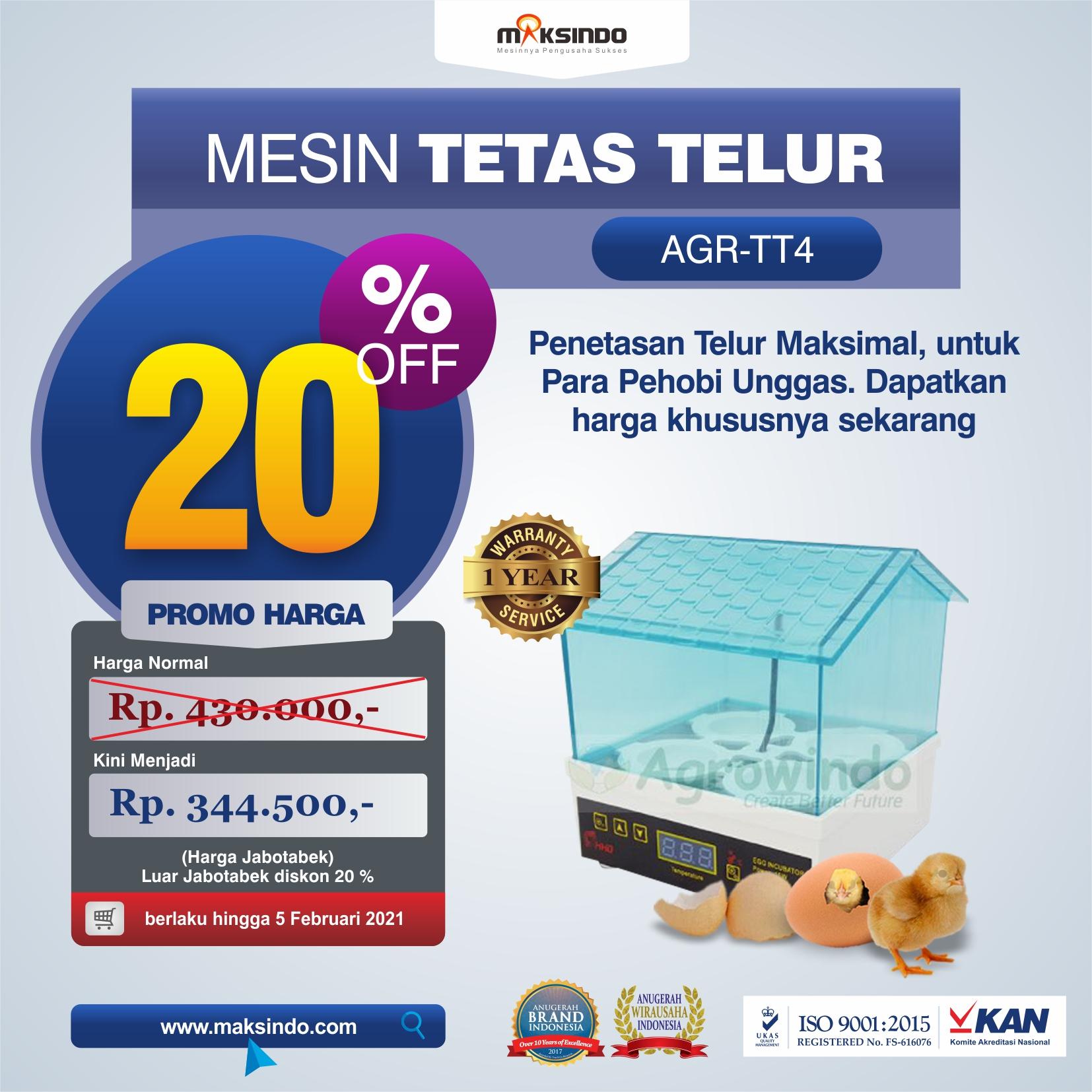Jual Tetas Telur Mini 4 Butir (AGR-TT4) di Semarang