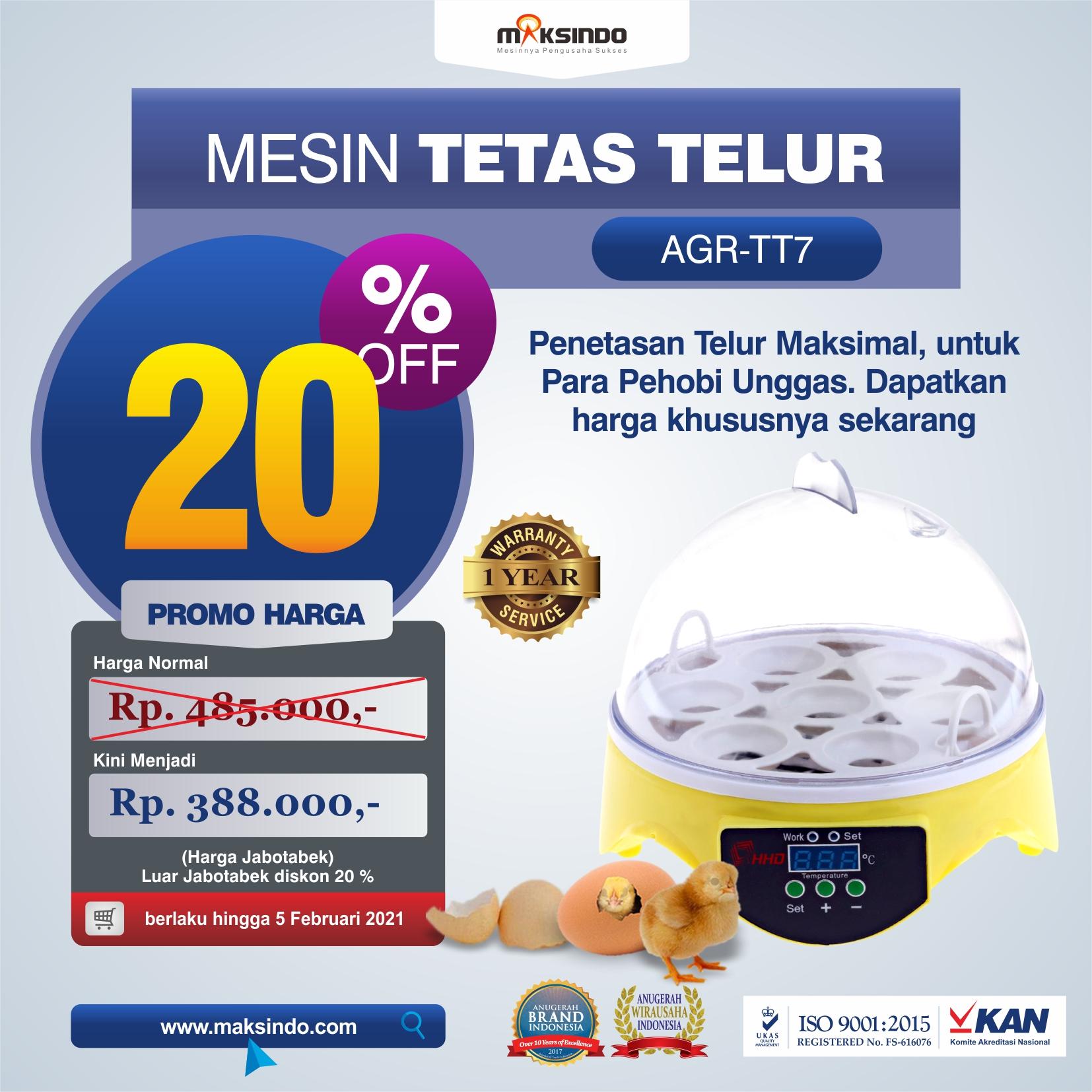 Jual Mesin Penetas Telur 7 Butir di Semarang