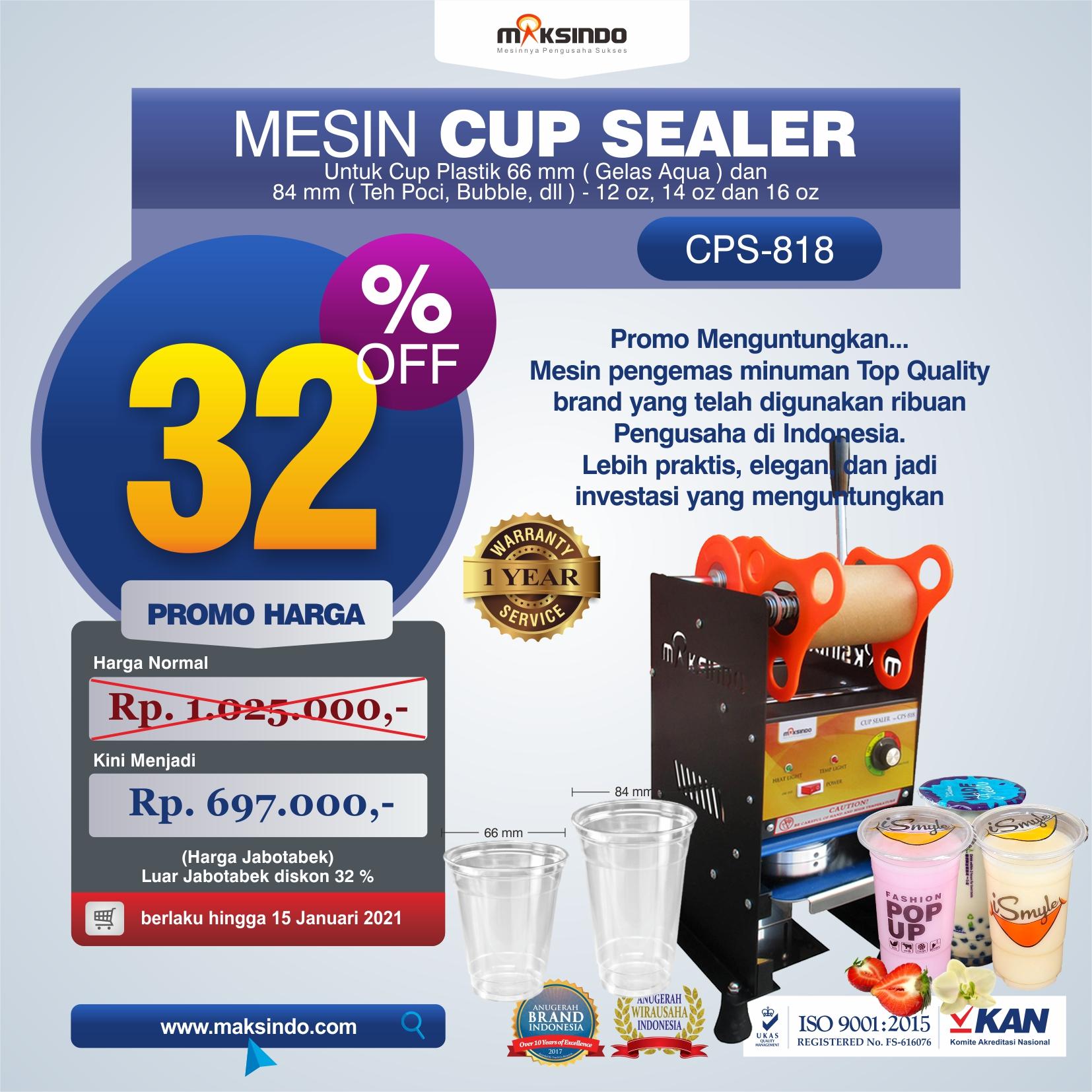 Jual Mesin Cup Sealer Manual New Di Semarang