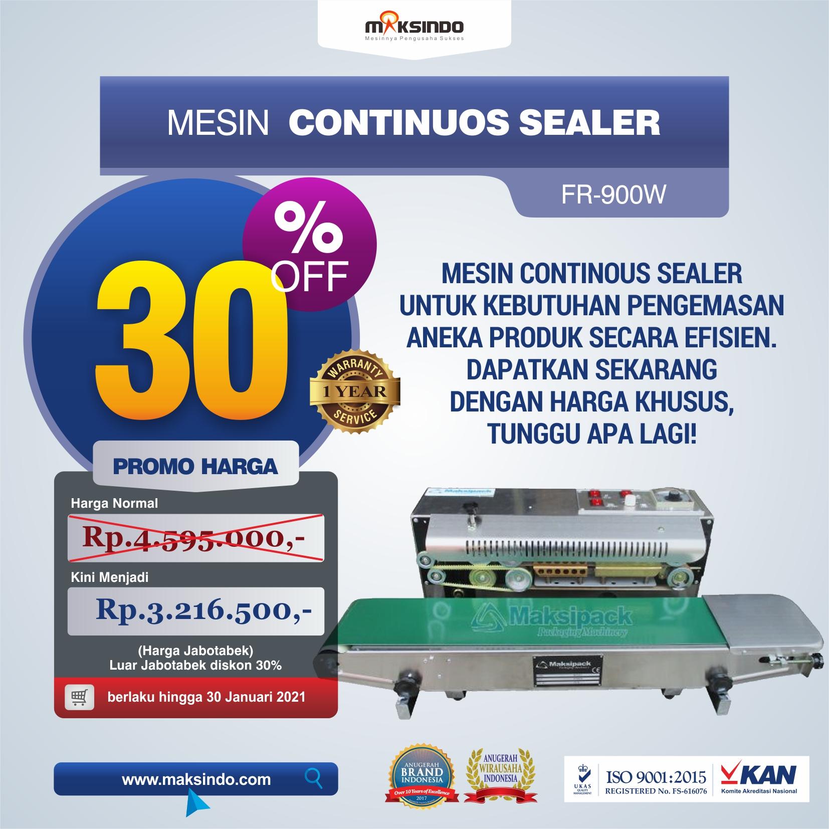 Jual Mesin Continuos Sealer FR-900W di Semarang