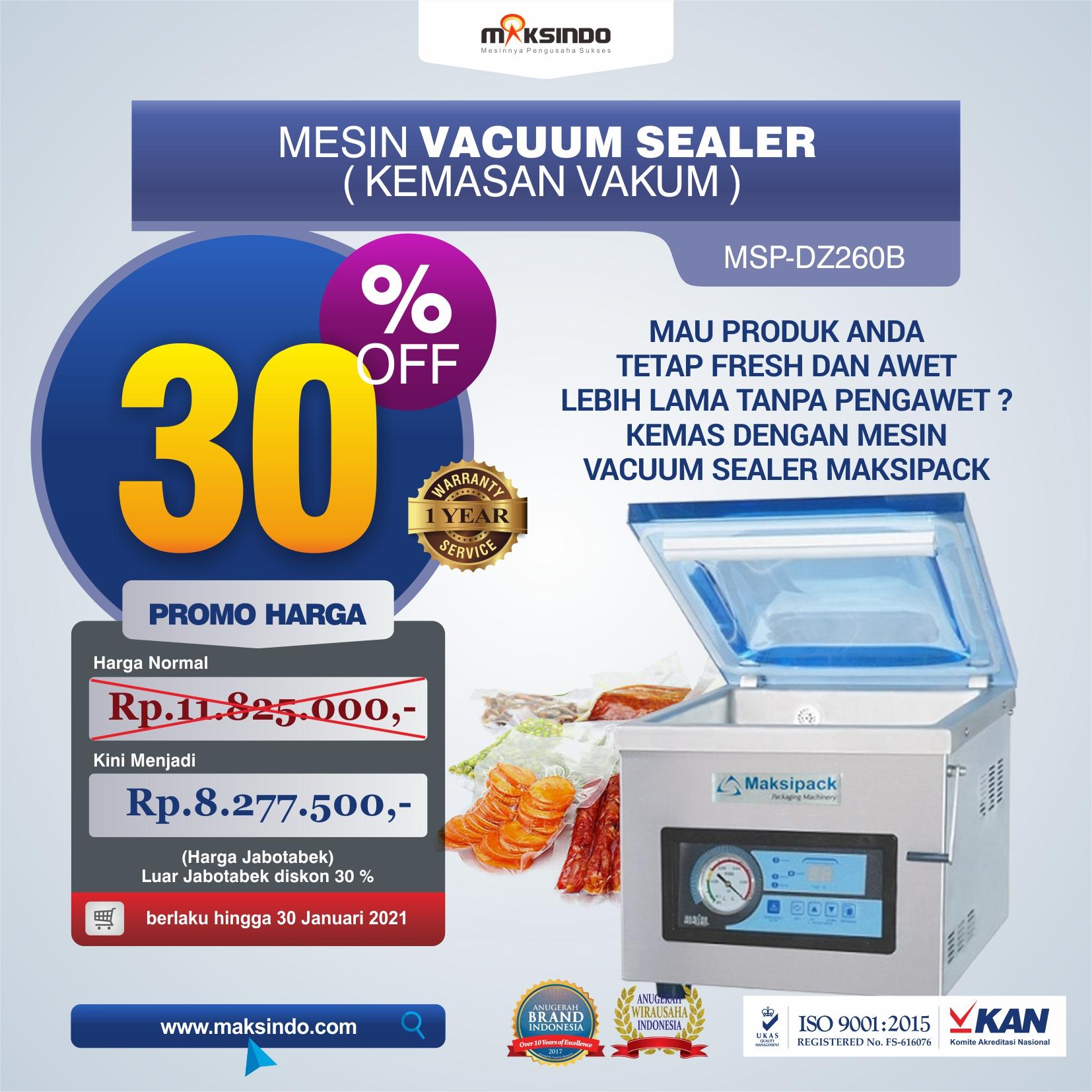 Jual Mesin Vacuum Sealer MSP-DZ260B Di Semarang