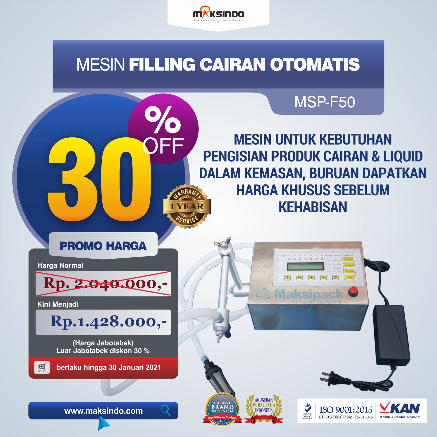Jual Mesin Filling Cairan Otomatis MSP-F50 di Semarang