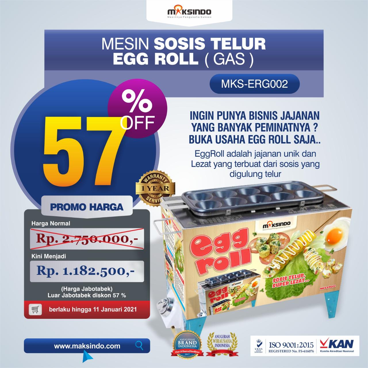 Jual Mesin Pembuat Egg Roll (Gas) MKS-ERG002 di Semarang