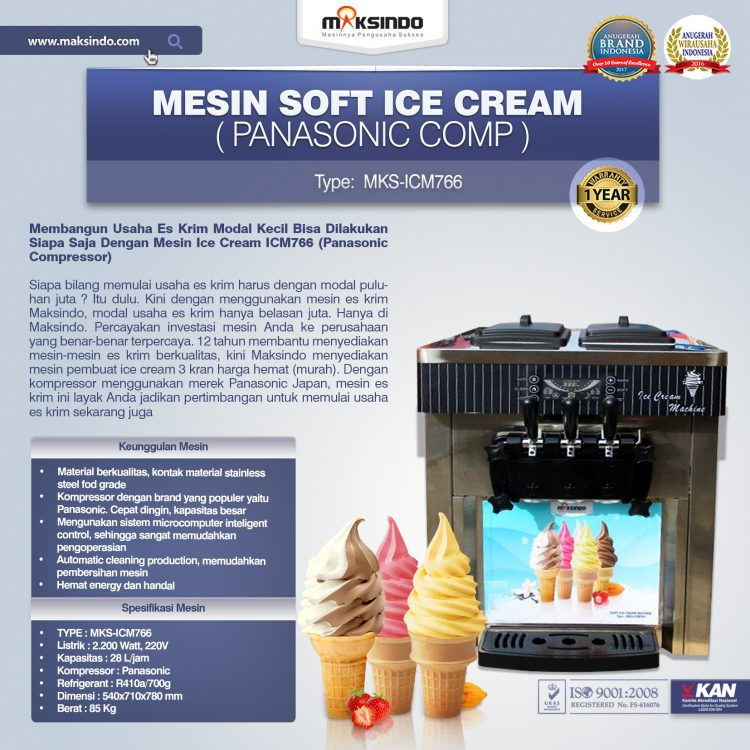 Jual Mesin Soft Ice Cream ICM766 (Panasonic Comp) di Semarang